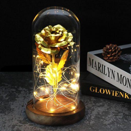 Rose Éternelle Feuille D'or